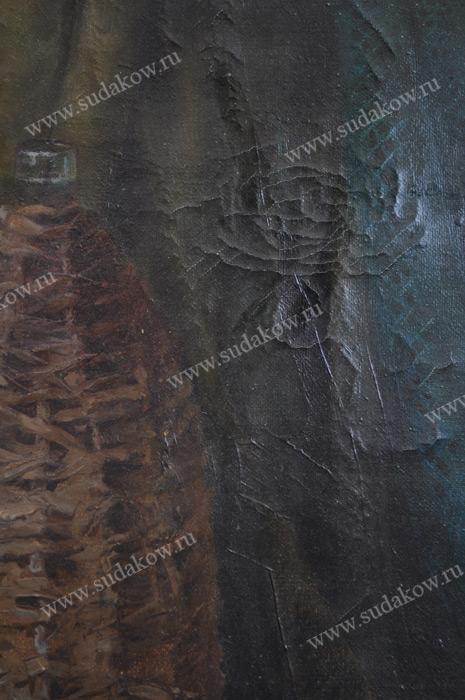 кракелюр на холсте картина реставрация