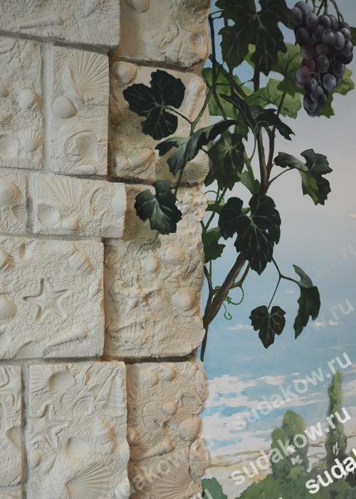 декоративная роспись стен обманка