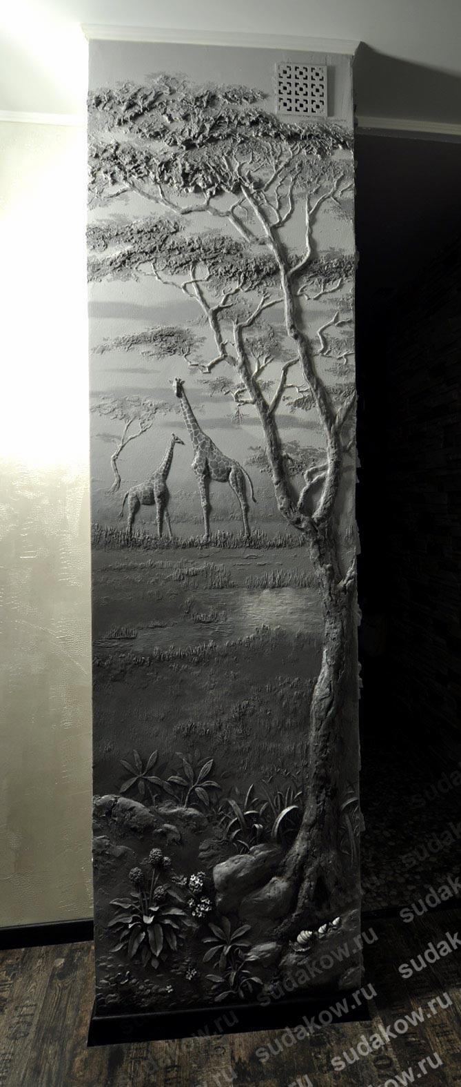 рельефное панно тема африка