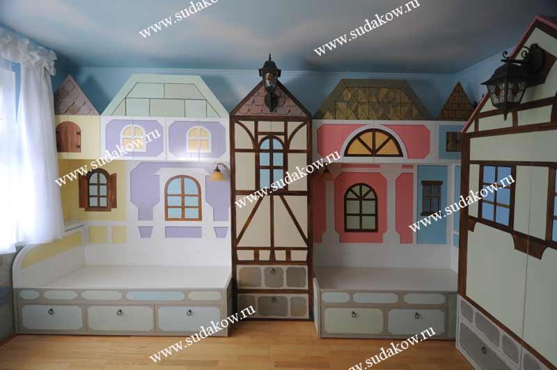 фото художественной росписи детской мебели