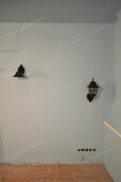 декоративное освещение на стене