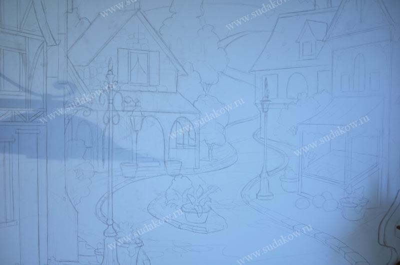Рисование домиков