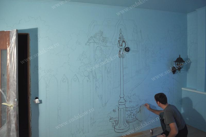 создание росписи стен