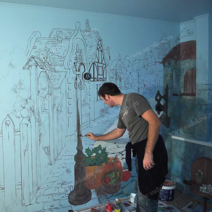 Краски для росписи стен в квартире купить гидроизоляция для басейнов в казани
