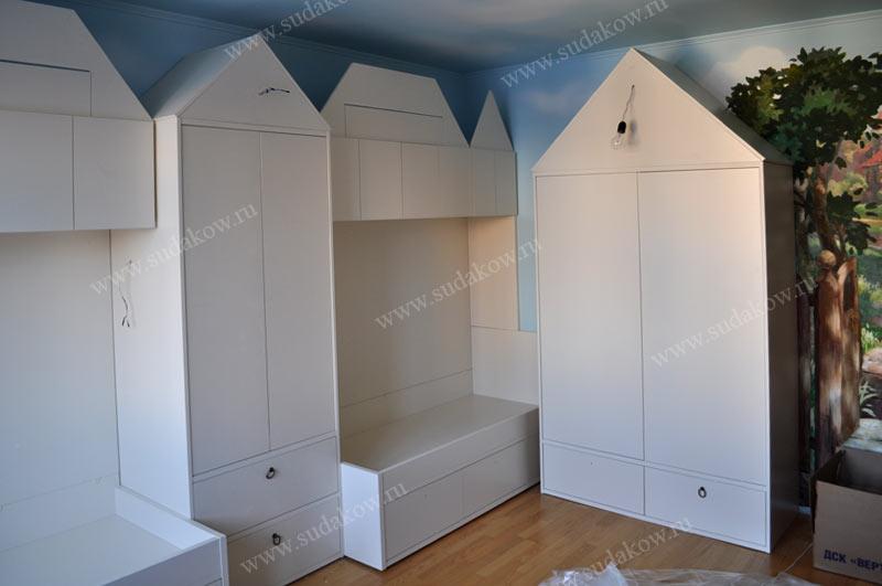 детская мебель на заказ в виде домиков