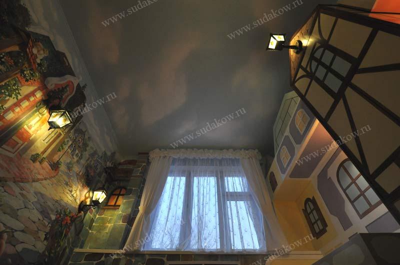 фото детской комнаты в ракурсе роспись стен