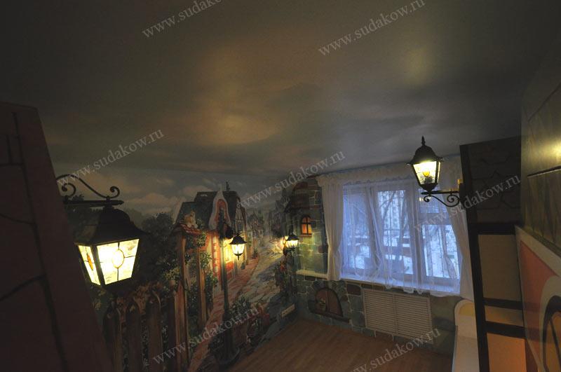 художественное оформление детской комнаты фото сверху
