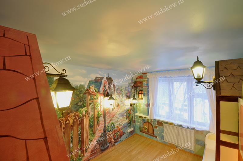 фото декоративных фонариков на стену в детской комнате