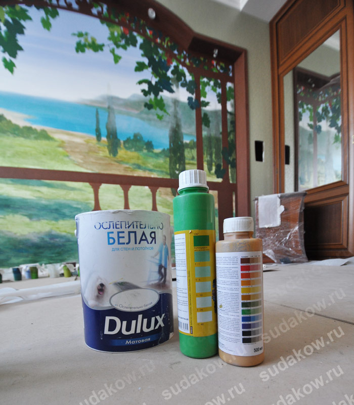 Краски для живописи на стенах гидроизоляция земляных бас