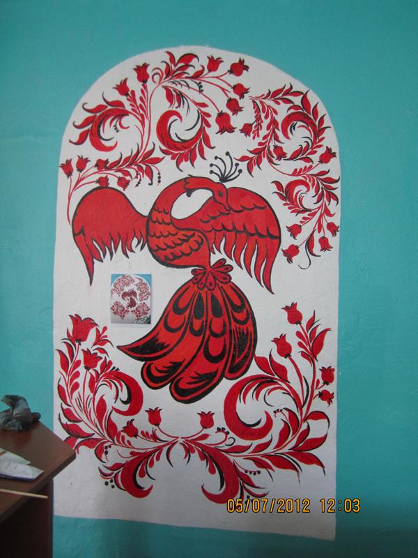 Роспись хохлома роспись стен