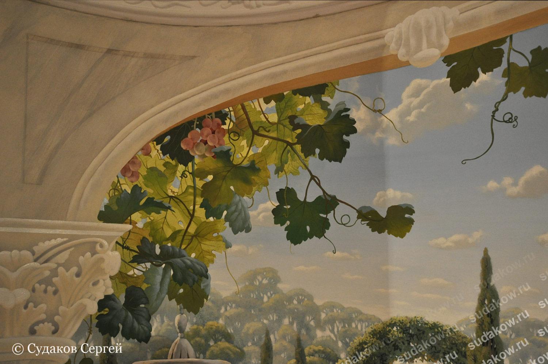 как рисовать листья винограда
