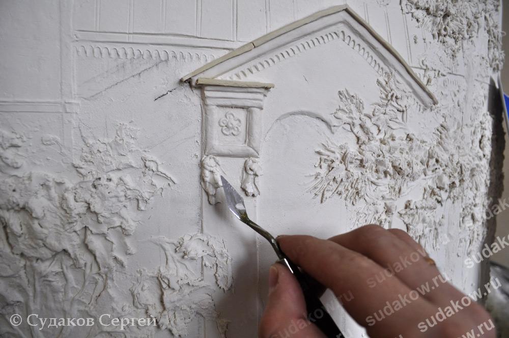 Рисунок из гипса на стене своими руками мастер класс