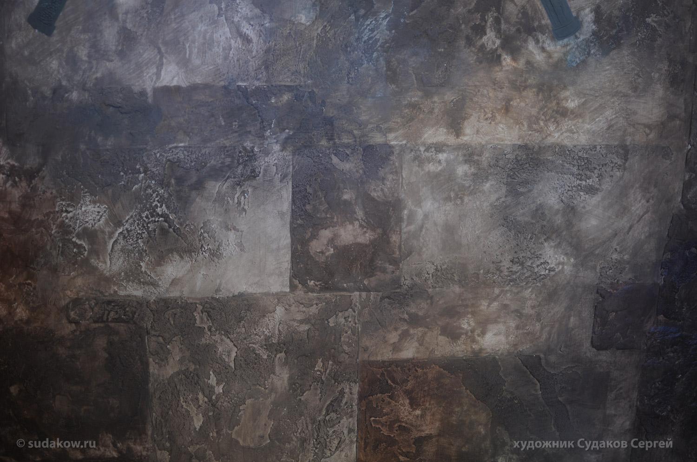 роспись стен имитация камня