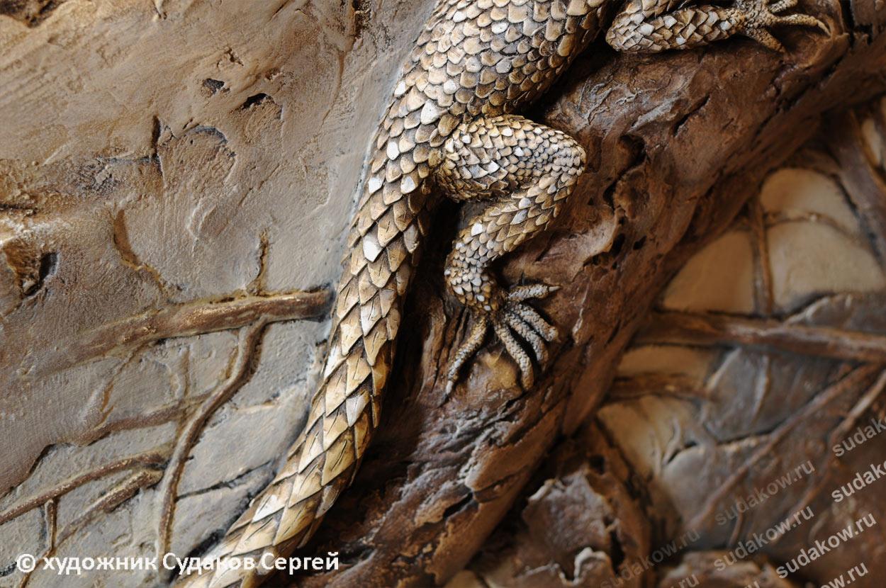 рельеф чешуя ящерицы