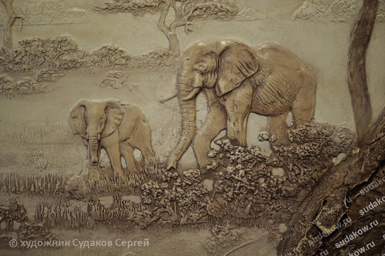 тема рельефного панно - Африка
