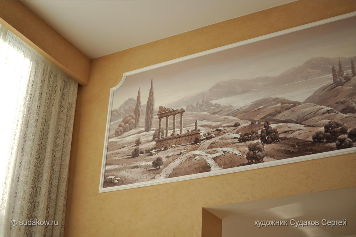 Роспись в гостиной