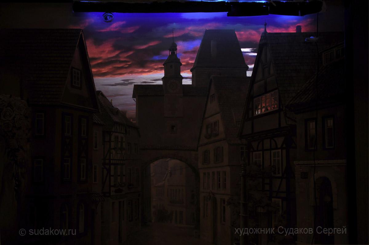 светящаяся в темноте роспись стен