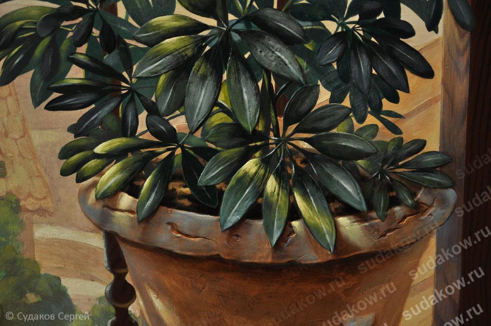 листья рельеф
