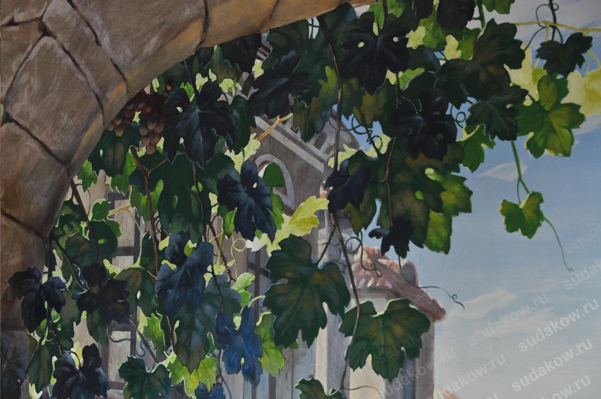 Рисунок виноградных листьев