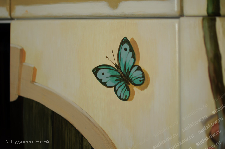 Сочетание фрески на стене с росписью ...: sudakow.ru/walls.php?rub=4&categ=34