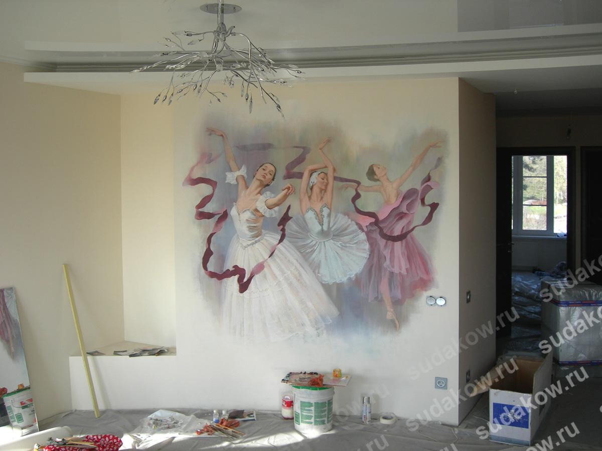 Рисунки для росписи на стене в