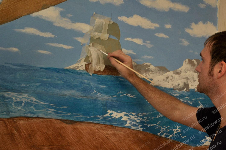 Роспись стен прорисовка