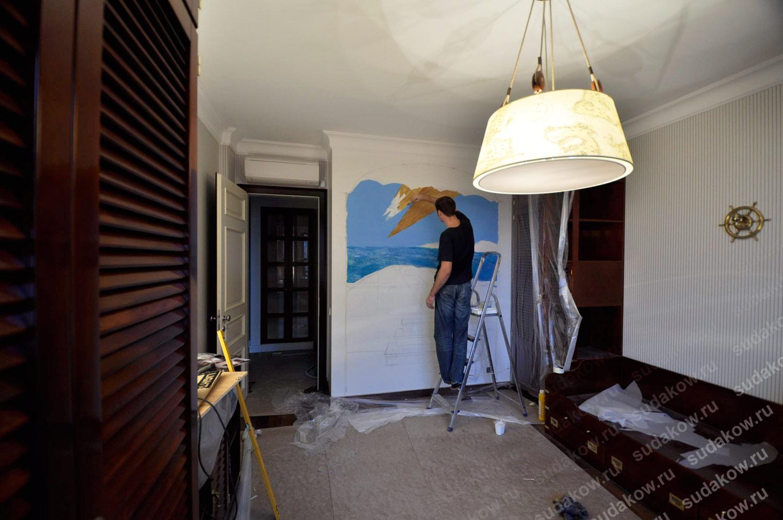 Роспись стен процесс