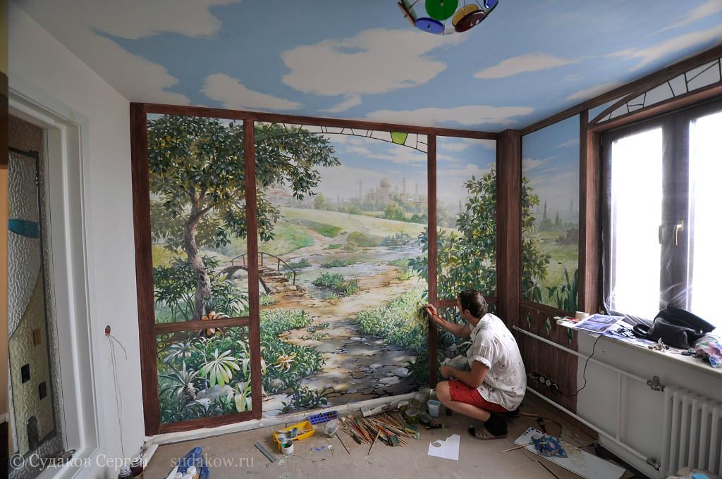 Панно окно на стену своими руками 78